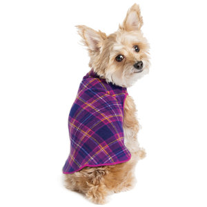 Gold Paw Gold Paw Single Layer Fleece Mulberry Plaid