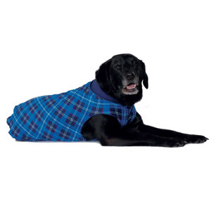 Gold Paw Gold Paw Double Fleece Blue Plaid Navy