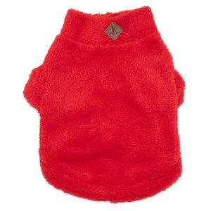 Worthy Dog Worthy Quarter Zip Pullover red fleece