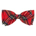 Worthy Dog Worthy Bow Tie Red Buffalo Plaid