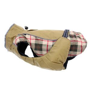 Doggie Design Alpine All-Weather Waterproof  Dog Coat Beige Plaid