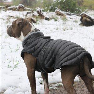 Doggie Design Alpine Extreme All-Weather Waterproof Dog Puffer Coat Black