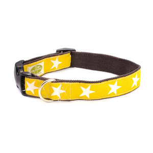 Earthdog Earthdog Hemp Collar Kody Yellow Stars