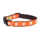 Earthdog Earthdog Hemp Collar Kody Orange Stars