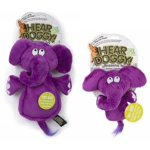 Hear Doggy Flat Purple Elephant Silent Sqk