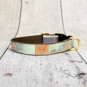 Bella Bean Finnegan Standard Cloth Olive Reflective Collars Leads