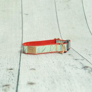 Bella Bean Finnegan Standard Cloth Red Reflective Collars