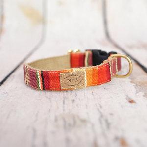 Bella Bean Finnegan Standard Cloth Orange Serape Collars