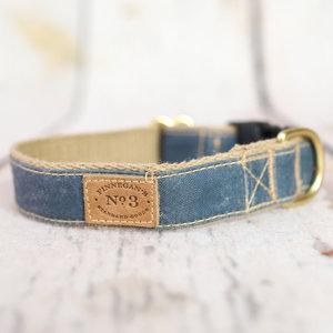 Bella Bean Finnegan Standard Cloth Quarry Blue Waxed Cotton Collars
