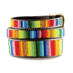 Kenyan Collection Kenyan Rainbow Beaded Dog Collars