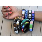 "Kenyan Collection Kenyan Beaded Bracelets 3/4"" wide"
