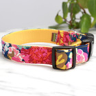 Mimi Green Copy of Mimi Green 'Ella' Floral Collars & Leads w brushed hybrid buckle
