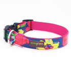 Mimi Green Mimi Green 'Rosey' Laminated Cotton Collars & Leads w brushed hybrid buckle