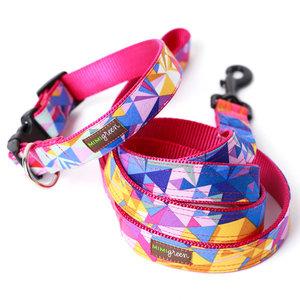 Mimi Green Mimi Green Collins Geometric Collars & Leads w brushed hybrid buckle