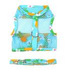 Doggie Design Cool Mesh Harness & Leash Pineapple Luau