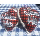Mirage Pet Products Mirage Jackson Hole Heart Toy Red Buffalo Check