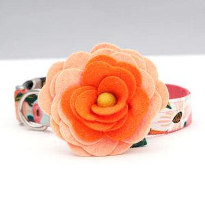 Mimi Green Mimi Green 'Orange Magnolia' dog collar flower