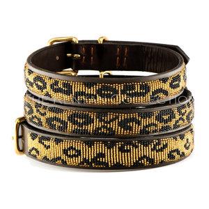 Kenyan Collection Kenyan Leopard Beaded Dog Collars