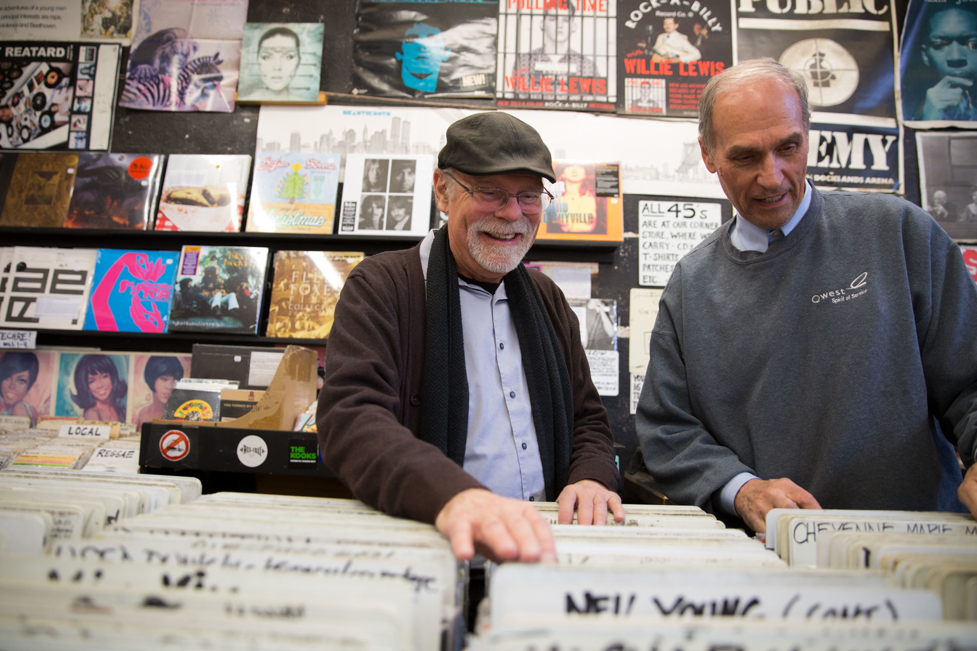 Duane Davis and Dave Stidman, co-owners of Wax Trax since 1978