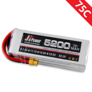 JH POWER 7.4V 5200mah 2S 75C  JH POWER LIPO XT60