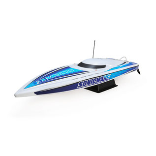"Proboat 36"" Sonicwake,Blu,Self-Right Deep-V Brushless RTR"