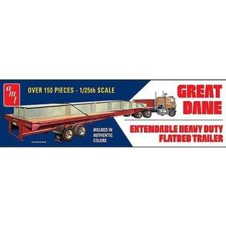AMT 1/25 GRT DANE EXT FLAT BED TRAILER