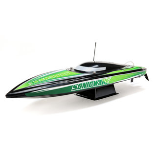 """Proboat 36"""" Sonicwake Self-Right Deep-V Brushless Green RTR"""