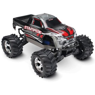 Traxxas 1/10 STAMPEDE 4x4 RTR XL5 Silver w/ Battery and Charger