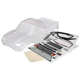 Traxxas TRX-4 Sport Body, Clear w/ decals. Cut for LED's