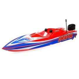 """Proboat 17"""" Lucas Oil Power Race DeepV w/SMART Chg&Batt:RTR"""