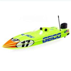 """Proboat 17"""" Miss GEICO Power Race DeepV w/SMART Chg&Batt:RTR"""