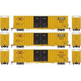 Athearn 60' Gunderson Double Door Railbox HO 3pk