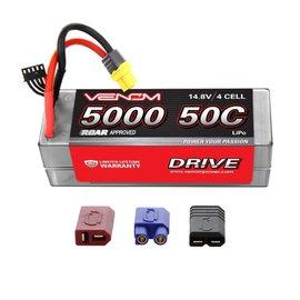 Venom Power 14.8V 5000mah 4s 50C DRIVE LIPO HC ROAR Uni-plug