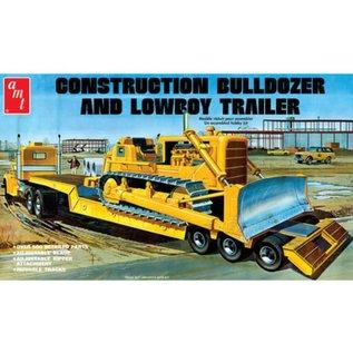 AMT 1/25 Lowboy Trailer & Bulldozer Combo