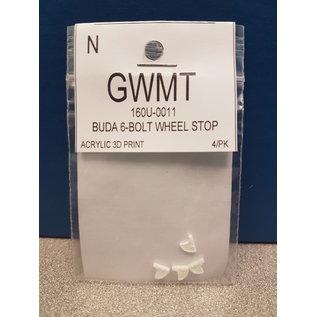 Great Western Model Trains BUDA 6 Bolt Wheel Stops N (4)