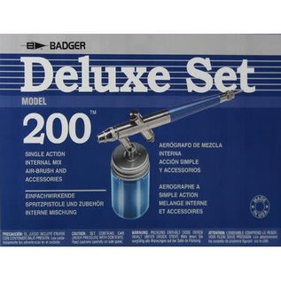 Badger #200 Single Action Siphon Internal Mix Airbrush Set