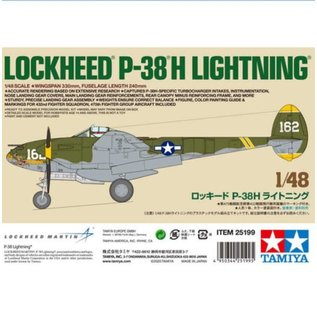 Tamiya 1/48 P-38H LIGHTNING KIT LE