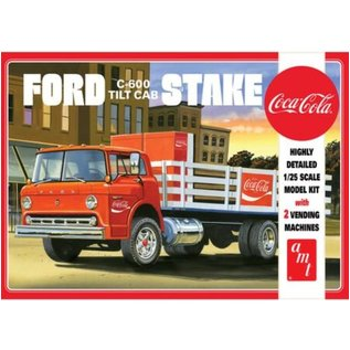 AMT 1/25 FORD C800 STAKE BED W/COCA-COLA MACH