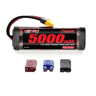 Venom Power 7.2V 5000mah NIMH Stick Uni-plug