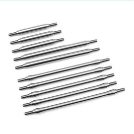 Vanquish Products TRX-4 Stainless St 10pc Link Kit, 12.3in Wheelbase