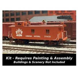 Sylvan Scale Models CABOOSE EARLY WOOD CNR HO