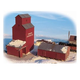 Walthers Cornerstone FARMER'S COOP GRAIN ELEVTOR KIT N
