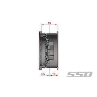 SSD RC 1.55 STEEL D HOLE WHEELS SILVER (2)
