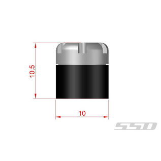 SSD RC 1/10 SCALE LOCKING HUBS RED