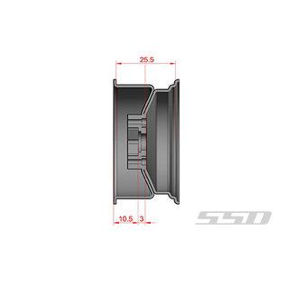 SSD RC 1.9'' STEEL SLOT BEADLOCK WHEELS SILVER 2