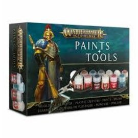 Games Workshop AGE OF SIGMAR PAINTS+TOOLS SET