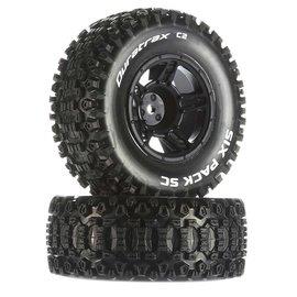 Duratrax MTD Six-Pack SC C2 Tires: Traxxas Slash Front 12mm Hex(2)