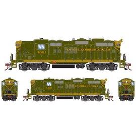 Athearn HO GP9 w/DCC & Sound, CV/Green, Gold #4551