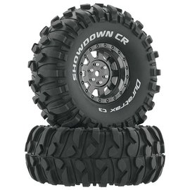"Duratrax Showdown CR C3 Mntd 1.9"" Crawler Blk/Chr (2)"
