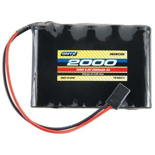 Onyx RC 6.0V 2000mah NIMH AA Flat RX battery